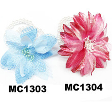 fashion pearl artificial flower bracelet