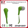 different color free sample earphone for mobile and music player