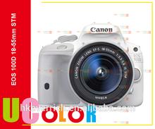 CANON EOS 100D Digital SLR White Camera With EF-S 18-55 mm IS STM Lens Kit