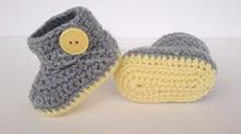 Yenidoğan, bebek tığ ayakkabı/tığ işi bebek giysileri