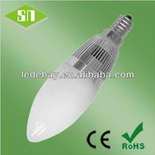 ce rohs saa certification E12 E14 E17 candle light led lighting fast delivery