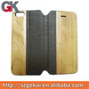 flip wallet leather case for iphone5, wood case cover for iphone 5