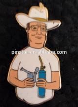 2014 New Custom Metal king of the hill Dank Hill heady hat lapel pin