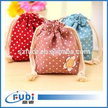 High Quality Beautiful Laundry Cotton Drawstring Bag