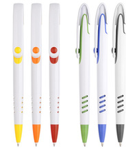 Big clip ball pen with color trims