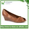 Tan Pu Wedge Shoes for Women