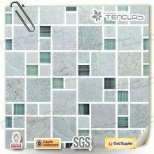 green strip pattern pebble stone mosaic