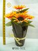 2010 15 INCH SUNFLOWER WITHIN PLASTIC PAPER POT flower pot plastic plastic flower pot plastic sunflowers flower pots plast