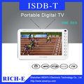 7 pulgadas lcd mini portátiles de tv digital para la copa del mundo