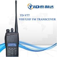 TID TD-V77 portable 5w professional display uhf vhf handy kyd two way radio