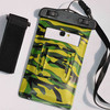 hot camouflage waterproof dry floating mobile phone neck hanging bag for hiking cellphone pouch