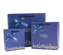 high quality new design royal blue gift bags