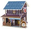 venda quente diy casas de madeira 3d puzzle brinquedo japão loja na china