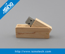 Promotion Gift Wooden / Bamboo Twister USB Flash Drive