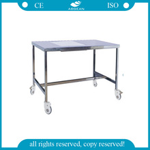 AG-MK004 CE&ISO with wheels 304 stainless steel medical tables