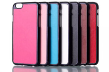 New Crazy Horse Leather Chrome Hard Back Case for Apple iPhone 6 Case