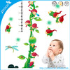 2014 new original nursery wall sticker cartoon wall decal home decor kid wallpaper children height measurement