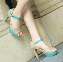Synthétique en cuir pour chaussures douce chaussures chaussures femme talons hauts