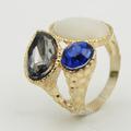 2014 últimas llegan oro diseños del anillo, Nuevo modelo de tres anillo de piedra