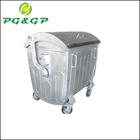 1100L garbage bin with powder coating