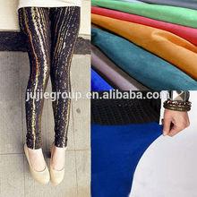 bronzed spandex leggings fabric knitting suede