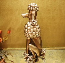 Environmental protection paint resin poodle statue