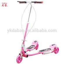 3 wheel kids pedal bike , frog kick scooter