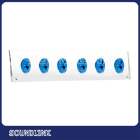 Acrylic human ear displays with six silicon models for hearing aid display