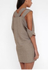 2014 New Arrival Gray Half Sleeve Cutout V-Neck Tunic Dress