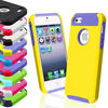 C1013 Hybrid Rubber Rugged Combo Matte Soft Hard TPU Case Cover For iPhone 55S 5G 5th