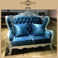 Luxury Chesterfield sofas French chesterfield fabric sofa antique HY001#