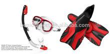 Scuba diving set of diving mask & snorkel & Fins(FN400+MK400+SK400)