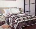 De haute qualité couverture de corail d'ouatine noël imprimé drap de lit automne et en hiver couvertures thermiques