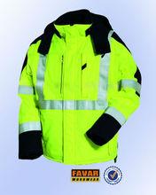 safety fire retardant jacket for oil field worker with hi viz