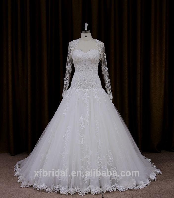 destacável mangas de renda para sexy lombar tradicional imagem real do vestido de casamento