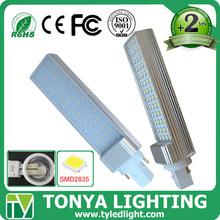 CE RoHS European market energy saving milky PC cover g24 pl 10w led lamp