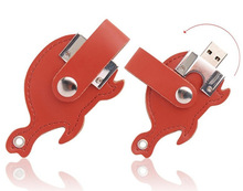 bulk 1gb cheap Promotional leather animal shape usb flash drive