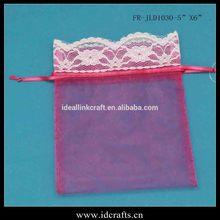 wedding decoration organza wiht lace bag FR-JLD1030 2014