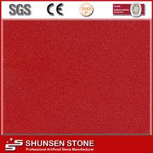 luxurious countertop stone best quality artificial rose red quartz QZ852