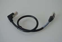 RIGHT ANGLED 1 M WHITE CAT 5e CABLE Ideal where space is limited or anywhere