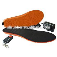 Alimentado por bateria pé quente palmilha de calçados aquecida com controle remoto