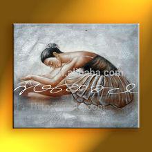 ballet dancer oil painting hot order modern handmade canvas handmade home decor