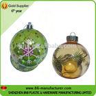 2014 new bulk decorative clear plastic ball christmas ornaments