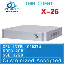 Promotional price !!! X-26 Intel C1037U office computer deluxe computer 2gb ram 32gb ssd can run Linux/Ubuntu/window 7