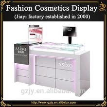 Custom popular wood cosmetic desk for cosmetic store display furniture