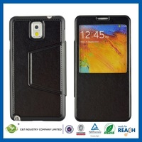 Factory wholesale leather flip case for samsung galaxy note 3 n9100