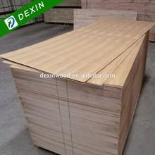 915mmx2135mm, 850mmx1950mm, 740mmx1900mm Q/C Straight LIne Natural Burma Teak Veneered Plywood Door Skin