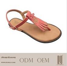 2014 wholesale sandals good materials to make flat sandals woman shoe