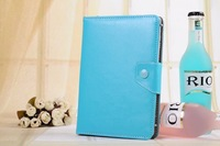 """Universal 7"""" Inch PU Leather Wallet Case Cover Folio Stand For 7"""" Tablet"""