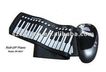 61 Keys folding silicone piano, Hand Roll Piano ,Rolling waterproof Piano